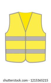 a yellow safety vest for the road