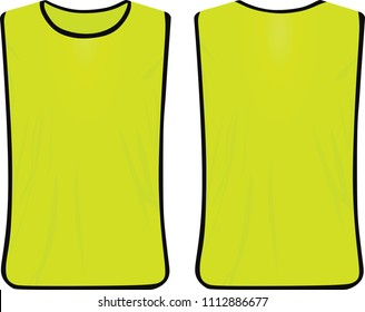 Yellow safety vest. vector illustration