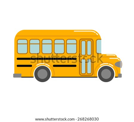 yellow school bus vector illustration stock vector royalty free