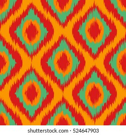yellow Seamless Camouflage Ogee in Ikat Weave Background Pattern vector art