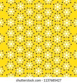 Yellow seamless geometric pattern
