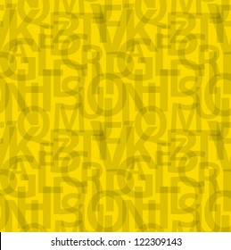 Yellow seamless letters pattern.