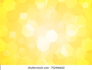Yellow shade color hexagonal abstract background. Vector illustration