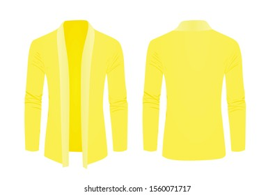 Yellow shawl sweater. vector illustration