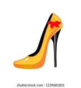 yellow shoes cartoon
