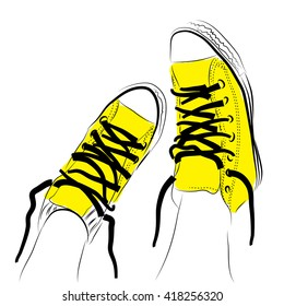 Yellow shoes/ Cool Yellow shoes for fashionable teenagers. Comfortable shoes for every day.