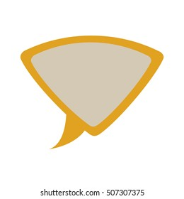 yellow silhouette dialog with triangle shape