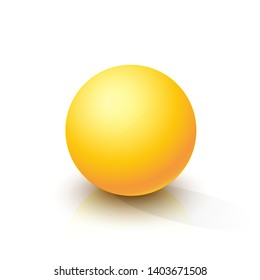 Yellow sphere on a white background. Vector illustration