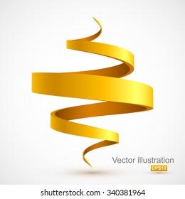 Yellow spiral 3D.
