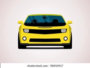 yellow sport car. Chevrolet Camaro