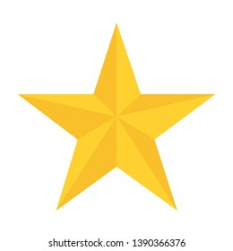 yellow star in flat style white background vector