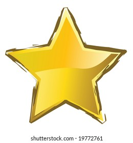 yellow star for xmas or new year