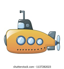 Yellow submarine icon. Cartoon of yellow submarine vector icon for web design isolated on white background