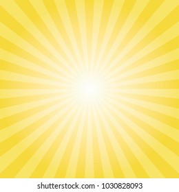 Yellow sun ray background. vector eps10