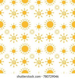 Yellow Sun Summer Pattern