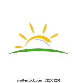 Yellow Sun Vector Logo Template Illustration Design. Vector EPS 10.