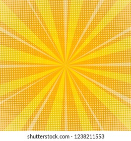 Yellow sunburst background