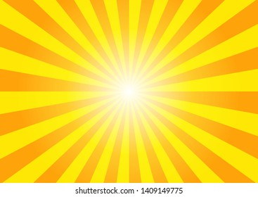 Yellow sunshine colorful vector background. Abstract sunburst with light design wallpaper for template business social media advertising.