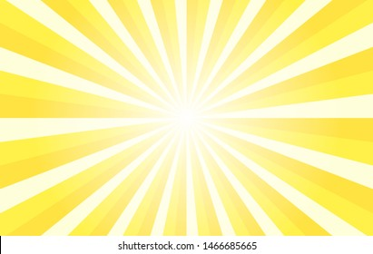 Yellow sunshine colorful vector background. Abstract sunburst design wallpaper for template business social media advertising.