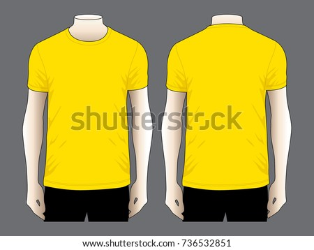 Yellow T Shirt For Template