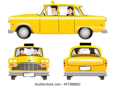 Yellow taxicab.