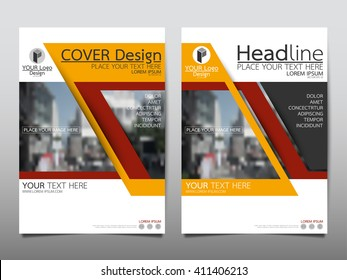 Yellow technology annual report brochure flyer design template vector, Leaflet cover presentation abstract flat background, layout in A4 size