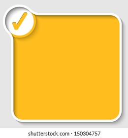 yellow text frame and check box