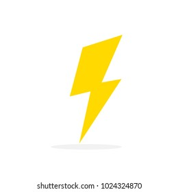 yellow thunder in white background