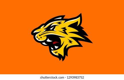 Yellow Tiger Cat E-Sport Logo