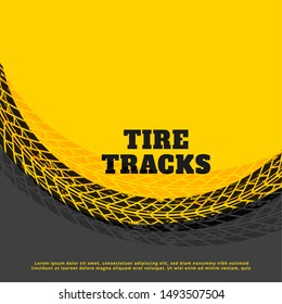 yellow tire track print mark background design