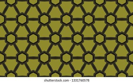 Yellow tones. Geometric design seamless pattern. Vector illustration