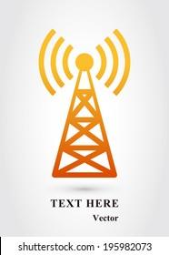 yellow Transmitter Tower