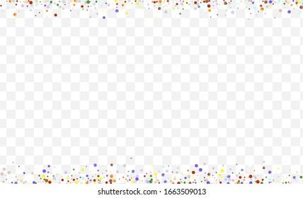 Yellow Transparent Round Postcard. White Invitation Shine Background. Decoration Circle Banner. Orange Polka Independence Illustration.