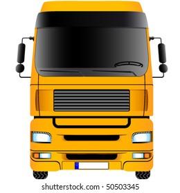 Yellow truck - vector illustration