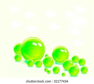 Yellow vector bubbles
