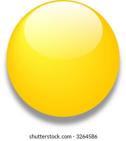 Yellow vector glass web button