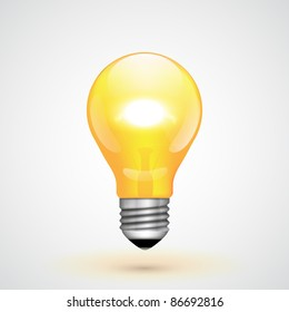 Yellow Vector Light Bulb