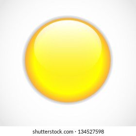 Yellow vector round blank button
