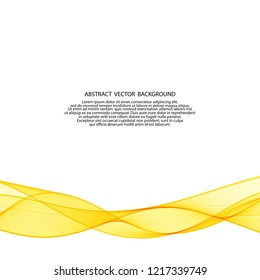 yellow vector wave. abstract image. advertizing