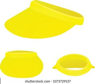 Yellow visor cap. vector illustration