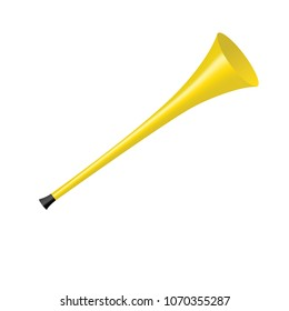 Yellow Vuvuzela isolated on a white background