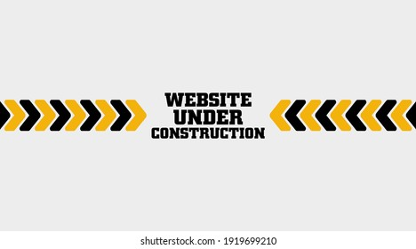 yellow warning sign. Under construction background.