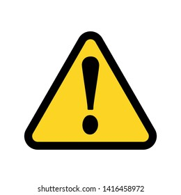 Yellow warning sign.Vector illustration. Flat design for business financial marketing banking advertising web concept cartoon illustration.