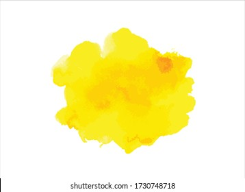 yellow water color paint background vector
