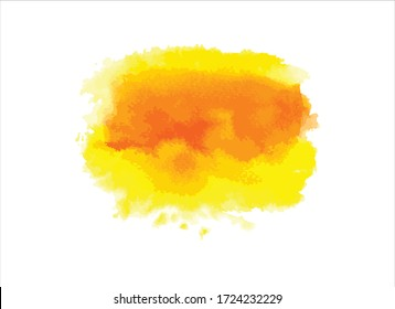 yellow watercolor paint stroke background vector illustration