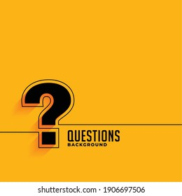 yellow web help and support question mark template