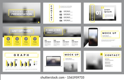 Yellow and white presentation template. Infographic template vector. Can use for presentation slide layout, leaflet, flyer, report, marketing, advertising, banner, brochure, etc.