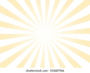 yellow and white Sunburst Pattern. Sunburst background.  Vector illustration.