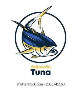 yellowfin tuna fish vector illustration