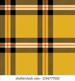 Yellow,red,white and black tartan plaid Scottish seamless pattern.Texture from tartan, plaid, tablecloths, clothes, shirts, dresses, paper, bedding, blankets and other textile products.